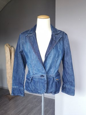 Taillierte, edle Jeansjacke von Tommy Hilfiger Jacke Jeans Gr 36 / 38 blau Übergang Übergangsjacke Sommerjacke Blazer Jeansblazer Jeans-Jacke Jeans-Blazer Original