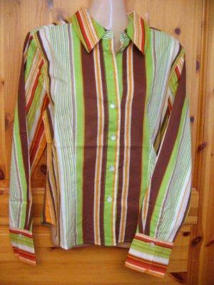 Taillierte Langarm Bluse EXPLORER Größe 36 Streifen