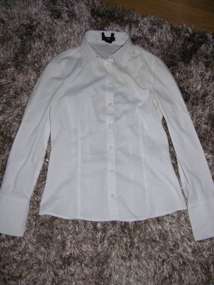 Taillierte weiße Langarm Bluse von ZERO Gr. 34
