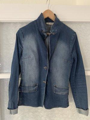 Taillierter Jeansblazer mit Elastan