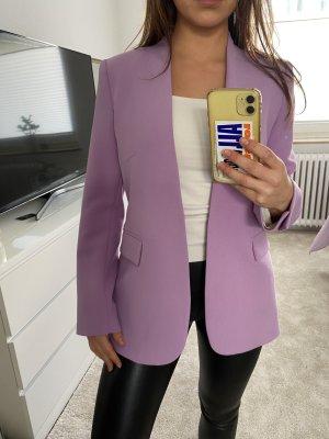 Taillierter, langer Blazer in lilac