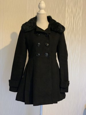 Fishbone Winter Coat black
