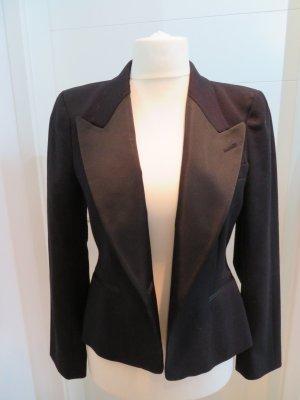 Taillierter schwarzer Smokingblazer Zara in L Blazer Abendblazer