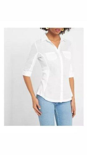 Tailliertes Hemd weiß Größe 36 Bluse 3/4-tel Ärmel