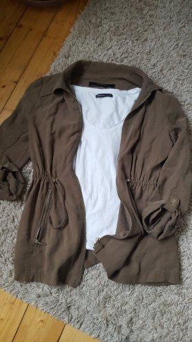 Zara Basic Militair jack khaki
