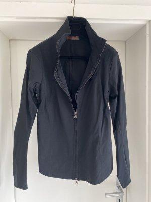 Tailliertes Stehkragen Hemd von Prada, schwarz