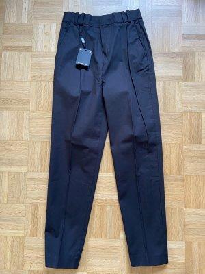 Massimo Dutti Pleated Trousers black