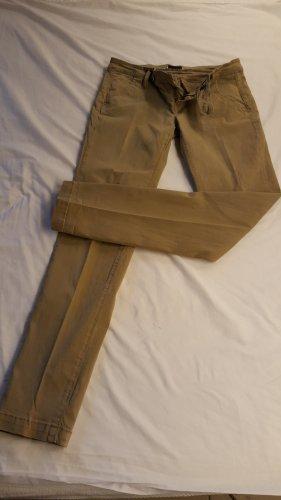 Take Two Pantalone chino grigio-verde Cotone