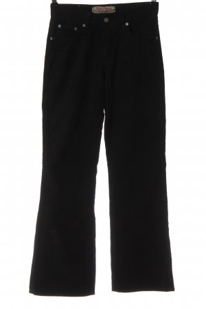 Take Two Pantalone di velluto a coste nero stile casual