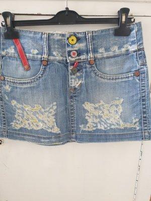Take Two Gonna di jeans azzurro