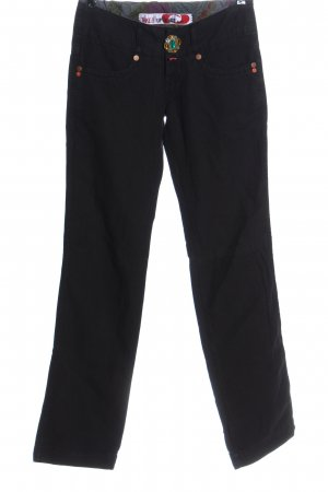 Take Two Pantalone a vita bassa nero stile casual