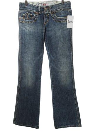 Take Two Jeans vita bassa blu stile da moda di strada