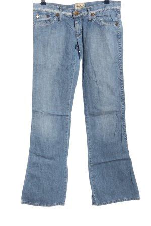 Take Two Jeans a zampa d'elefante blu stile casual