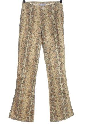 Take Two Pantalone a zampa d'elefante motivo animale stile casual