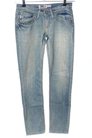 Take Two Jeans slim bleu style décontracté