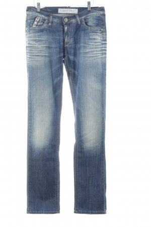 Take Two Slim Jeans stahlblau Vintage-Look