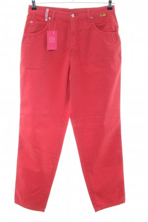 Take Two Pantalone jersey rosso stile casual