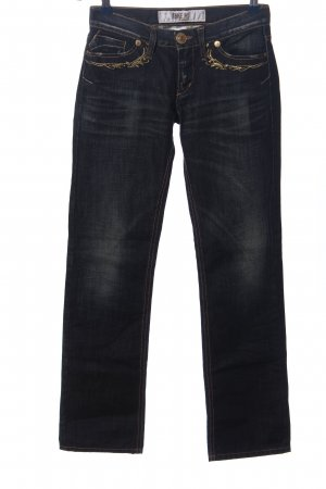 Take Two Jeans a gamba dritta blu stile casual