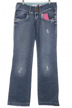 Take Two Straight-Leg Jeans blau-bronzefarben Vintage-Look