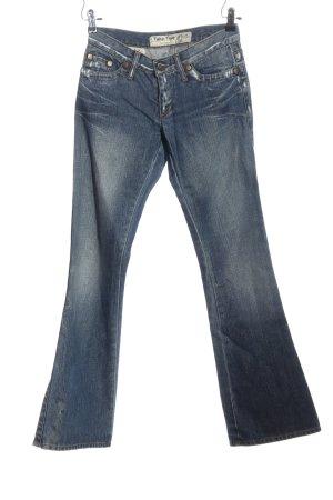 Take Two Jeans a gamba dritta blu-crema stile casual