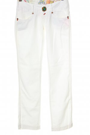 Take Two Jeans a gamba dritta bianco stile casual
