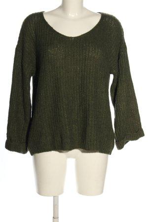 Take Two Maglione lavorato a maglia cachi stile casual
