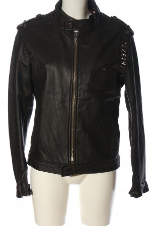 Takeshy Kurosawa Leather Jacket black casual look