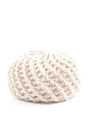 Takko Fashion Bonnet en crochet blanc style décontracté
