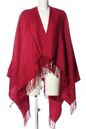 Takko Fashion Poncho rot Casual-Look