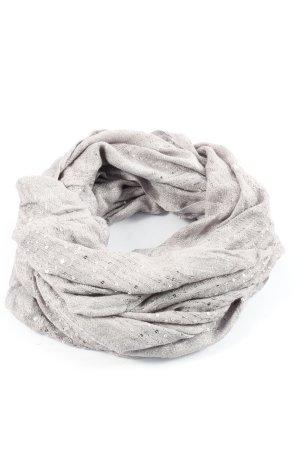 Takko Fashion Komin zawijany jasnoszary-srebrny Warkoczowy wzór W stylu casual