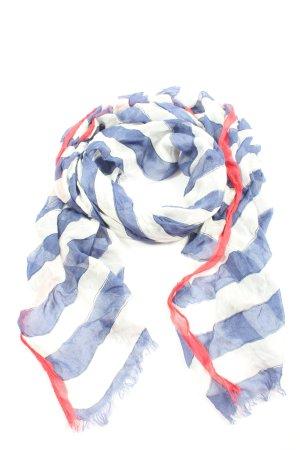 Takko Fashion Zomersjaal wit-blauw gestreept patroon casual uitstraling