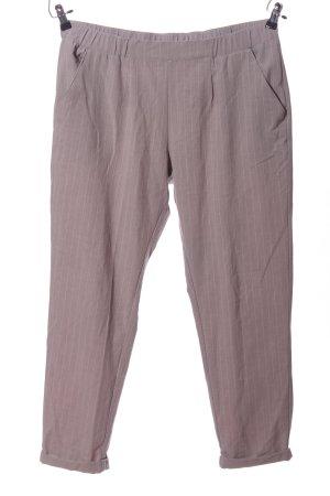 Takko Fashion Stoffhose pink Streifenmuster Casual-Look