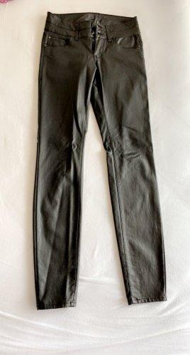 Takko Fashion Pantalon en cuir noir