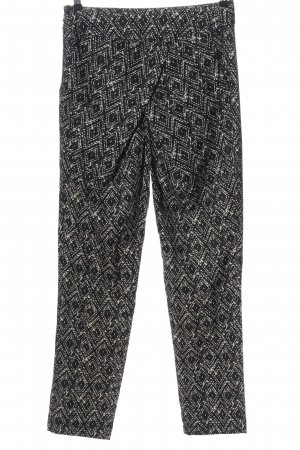 Takko Pantalone jersey nero-bianco motivo astratto stile casual
