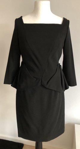 Talbot Runhof Vestido peplum negro