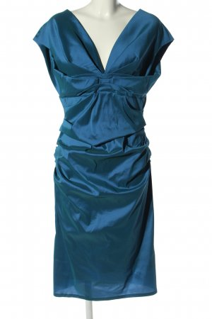 Talbot Runhof Kokerjurk blauw elegant