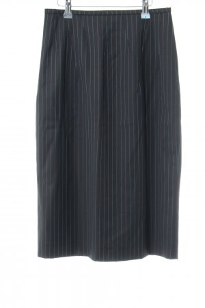 Talbot Runhof Bleistiftrock schwarz-blau Streifenmuster Business-Look