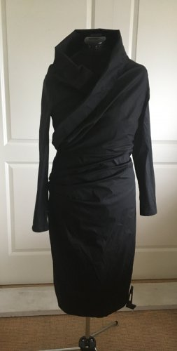 Talbot Runhof, feines, schwarzes Cocktail Kleid, Gr. 44,