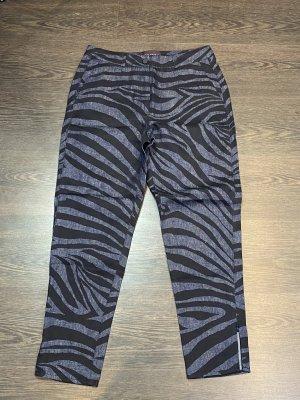 Talbot Runhof Pantalone a pieghe nero-grigio ardesia