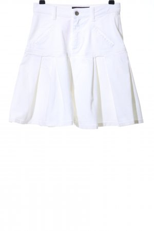Talbot Runhof Pantaloncino di jeans bianco sporco stile stravagante