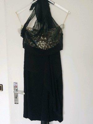 Talbot Runhof Halter Dress black silk