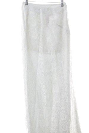 Talbot Runhof Maxi gonna bianco motivo floreale elegante