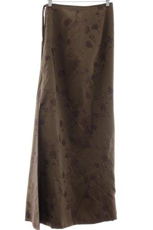 Talbot Runhof Midirock bronzefarben-braun Blumenmuster Elegant