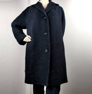 TALBOT RUNHOF Nacht-blauer Glitzer-Mantel, Größe 34