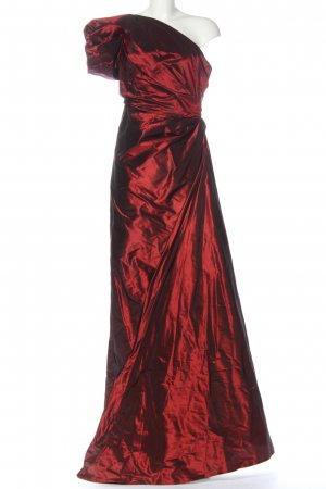 Talbot Runhof One-Shoulder-Kleid rot Elegant