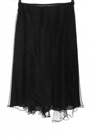 Talbot Runhof Gonna in seta nero elegante