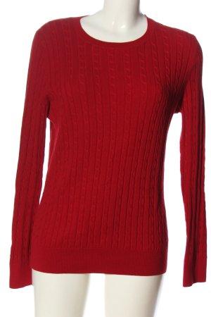 Talbots Pull torsadé rouge torsades style décontracté