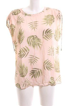 talk about ärmellose Bluse pink-grün Allover-Druck Casual-Look
