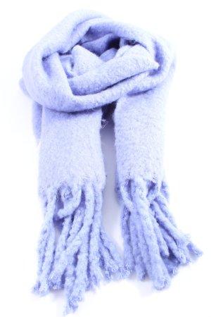 talk about Sjaal met franjes blauw casual uitstraling