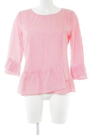 talk about Schlupf-Bluse rot-weiß Streifenmuster Casual-Look